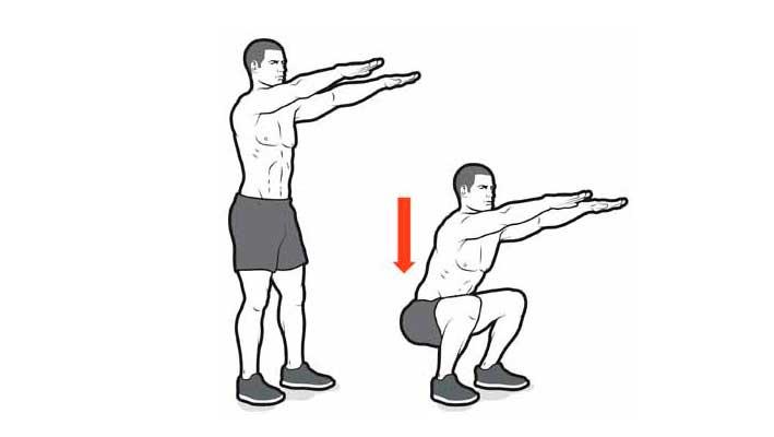 кроссфит тренировка в домашних условиях crossfit workout at home Воздушные приседания Air Squat