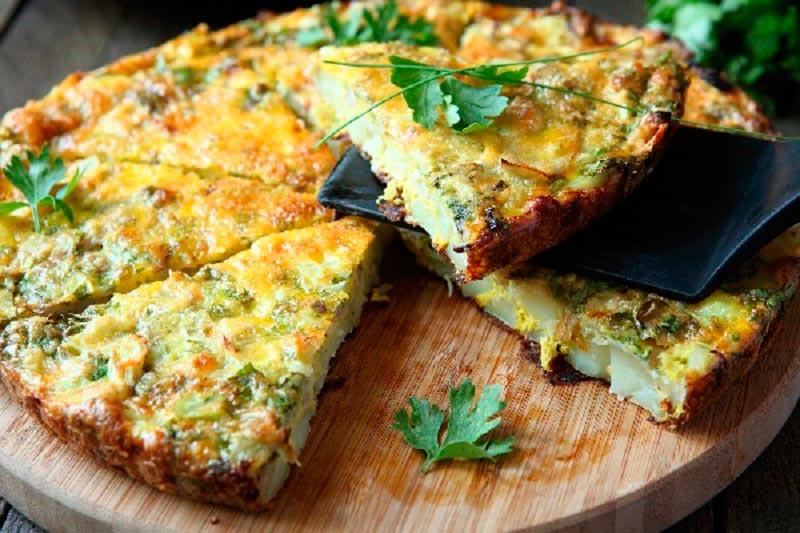 вкусная яичница delicious scrambled eggs Тортилья