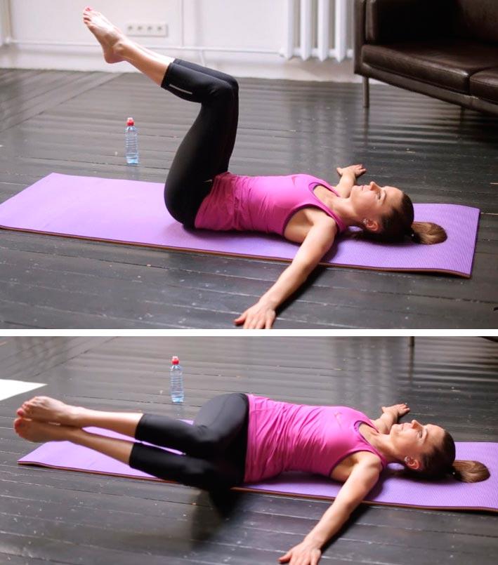 Пилатес для начинающих: комплекс упражнений Pilates for beginners: a set of exercises повороты таза rotations of the pelvis