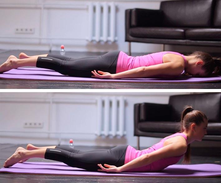 Пилатес для начинающих: комплекс упражнений Pilates for beginners: a set of exercises разгибание спины the extension of the back