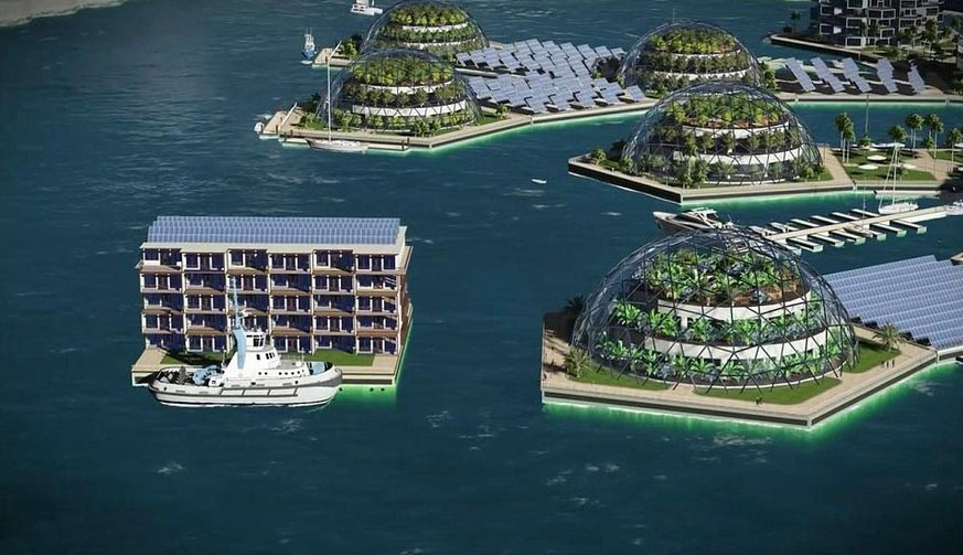 плавучий город floating city