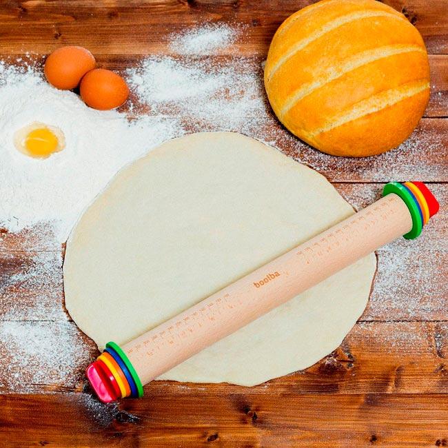кухонные гаджеты kitchen gadgets Скалка с разметкой и уровнем rolling pin with marking and level