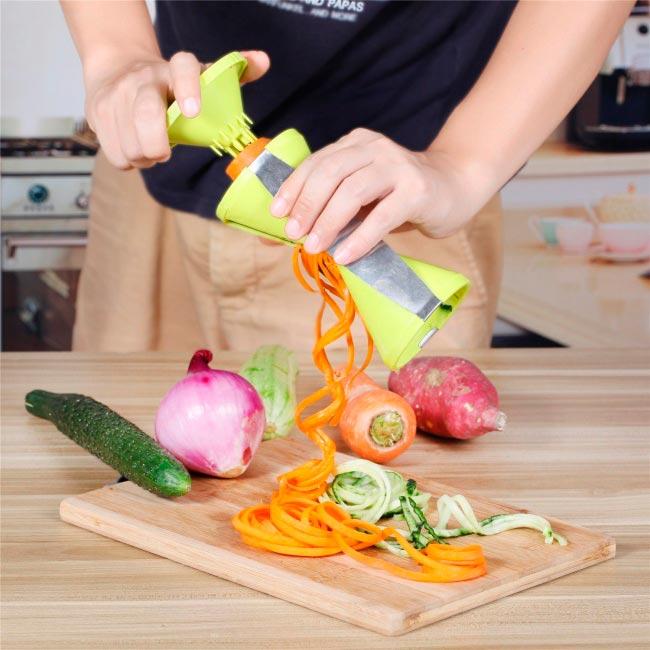кухонные гаджеты kitchen gadgets Овощная нарезка спиралью vegetable cutting spiral