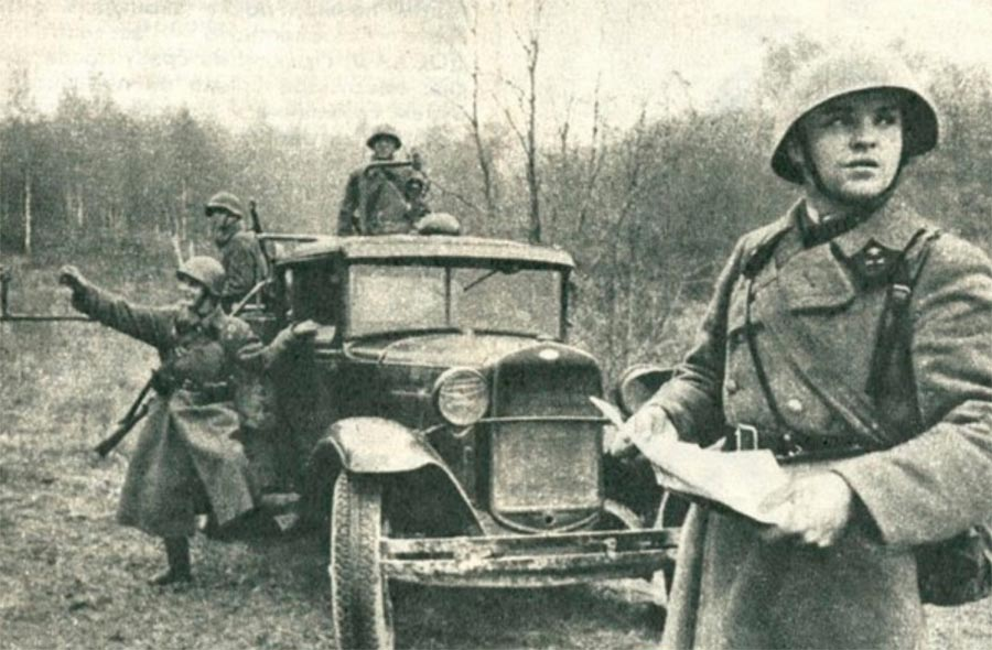 советские грузовики ГАЗ-АА полуторка