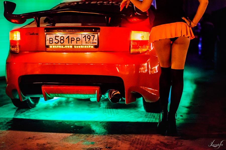 sexy beautiful girl прекрасная девушка и Toyota Celica