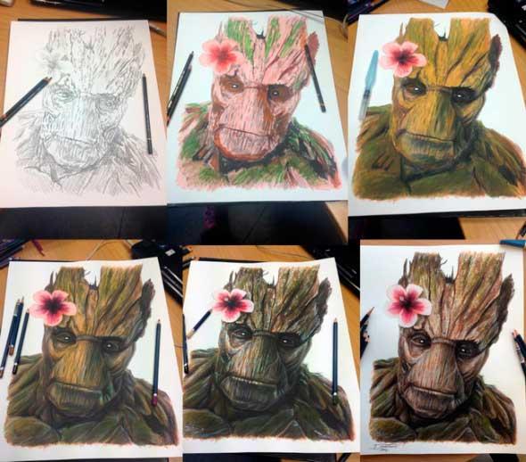 карандашные рисунки Дино Томича pencil drawings Dino Tomic Грут