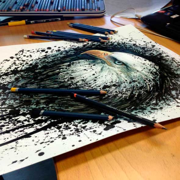 карандашные рисунки Дино Томича pencil drawings Dino Tomic Орел