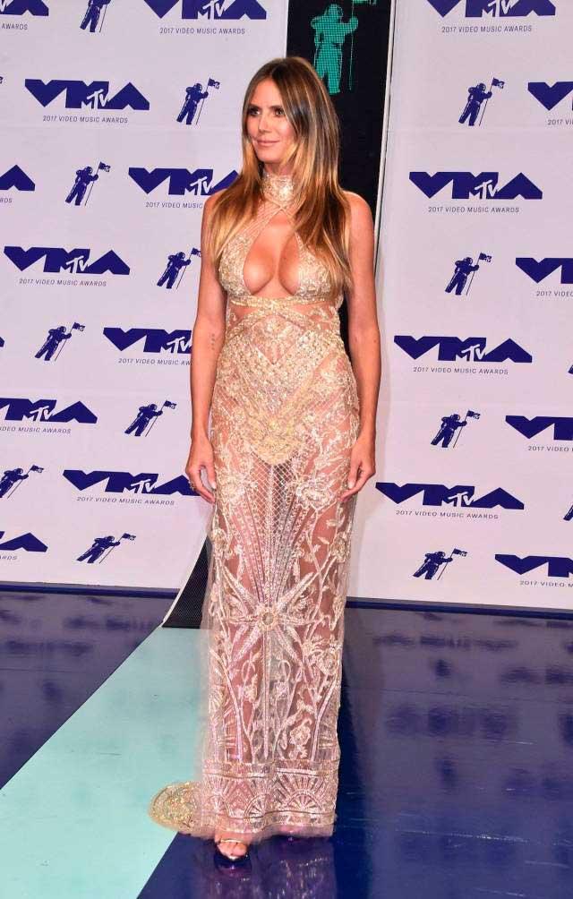 откровенные наряды знаменитостей revealiting outfits of celebrities Хайди Клум Heidi Klum