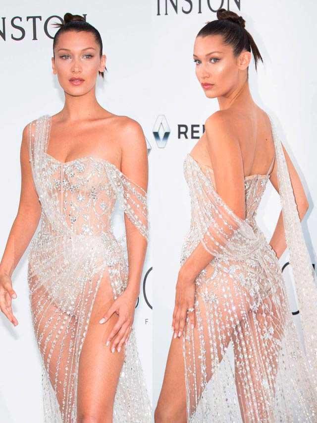 откровенные наряды знаменитостей revealiting outfits of celebrities Белла Хадид Bella Hadid