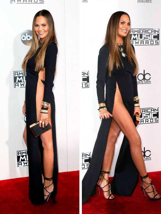 откровенные наряды знаменитостей revealiting outfits of celebrities Крисси Тейген Chrissy Teigen