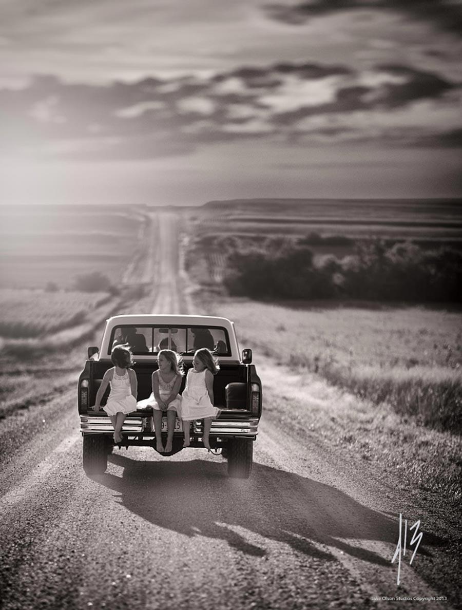 Правило третей фотография с отличной композицией Неспешная поездка Джейк Олсон