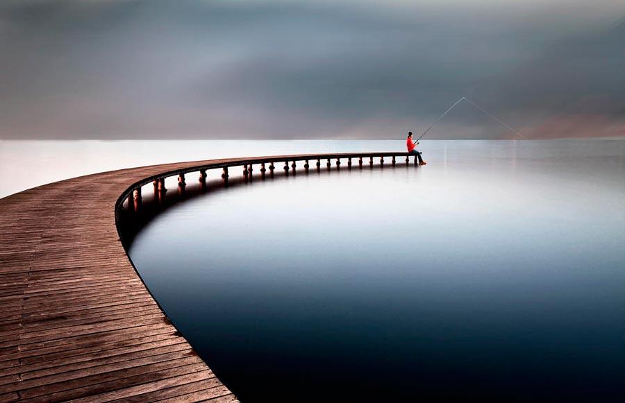 Правило третей фотография с отличной композицией Рыбалка Угур Туфан Эмексиз