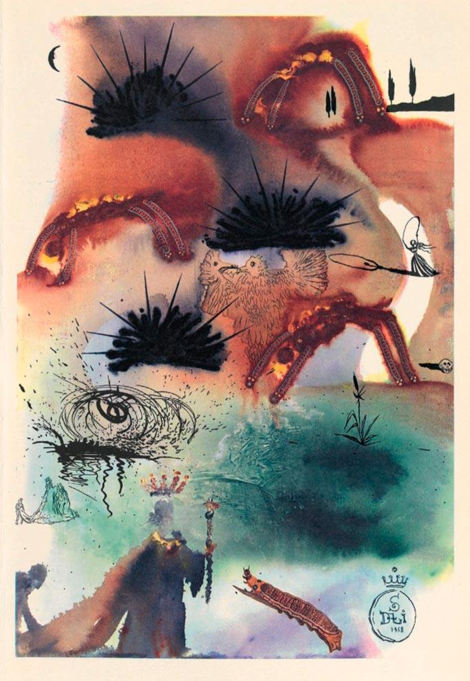 иллюстрации Сальвадора Дали к Алисе в Стране чудес illustrations by Salvador Dali for Alice in Wonderland Омаровая кадриль omarova quadrille
