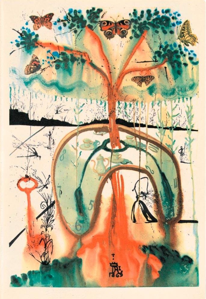 иллюстрации Сальвадора Дали к Алисе в Стране чудес illustrations by Salvador Dali for Alice in Wonderland Безумное чаепитие mad tea party