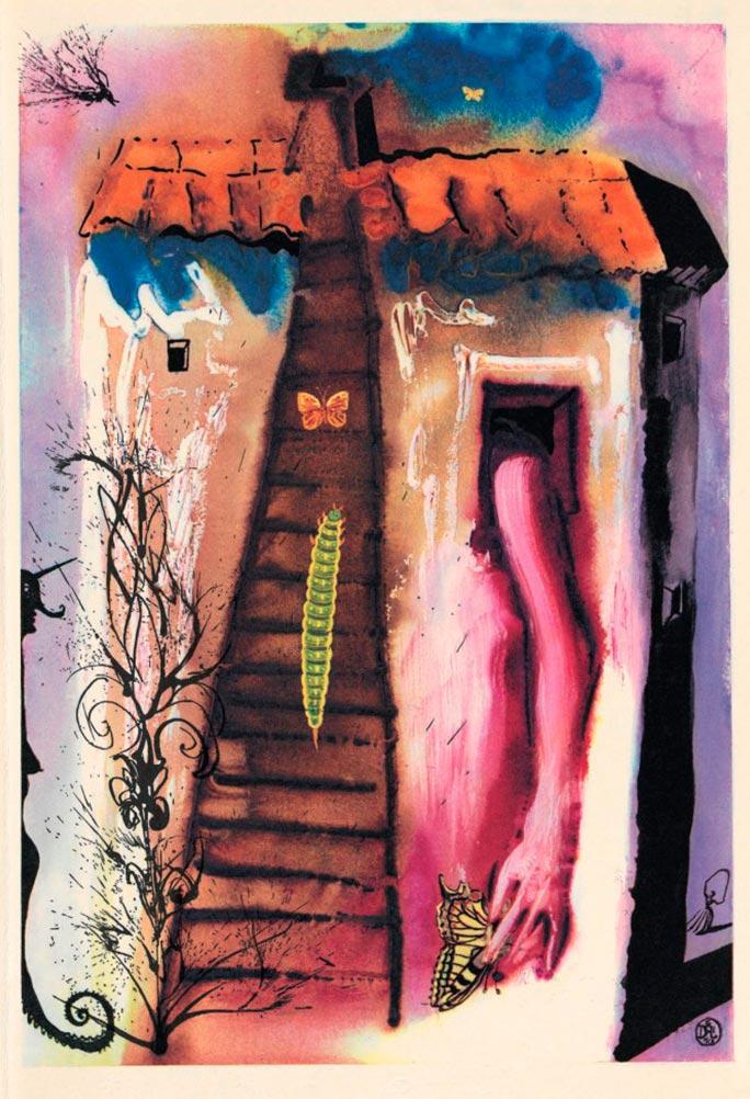 иллюстрации Сальвадора Дали к Алисе в Стране чудес illustrations by Salvador Dali for Alice in Wonderland Бег по кругу и длинный рассказ a caucur-race a long tale