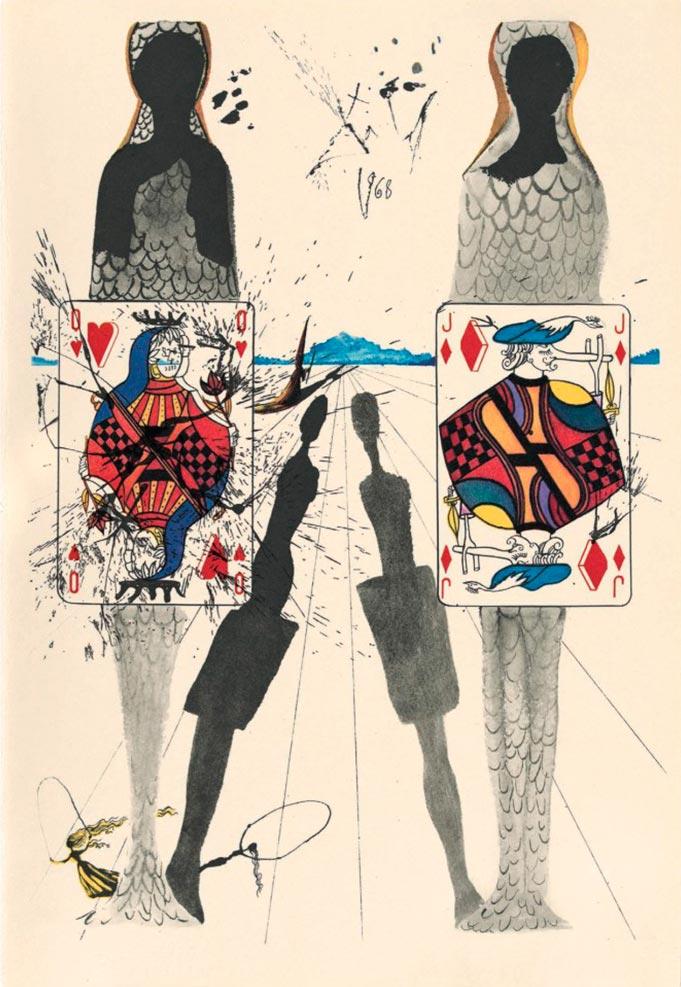иллюстрации Сальвадора Дали к Алисе в Стране чудес illustrations by Salvador Dali for Alice in Wonderland Королевский крокет the queen's croquet
