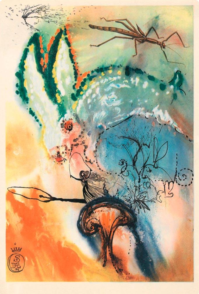 иллюстрации Сальвадора Дали к Алисе в Стране чудес illustrations by Salvador Dali for Alice in Wonderland Вниз по кроличьей норе down the rabbit hole