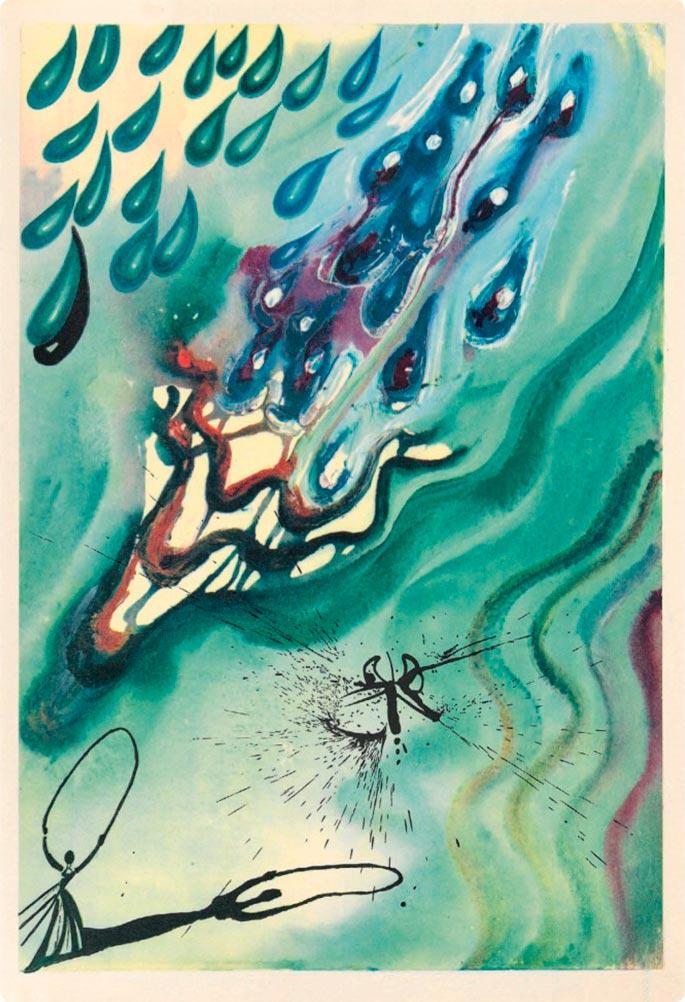 иллюстрации Сальвадора Дали к Алисе в Стране чудес illustrations by Salvador Dali for Alice in Wonderland Озеро слез lake of tears