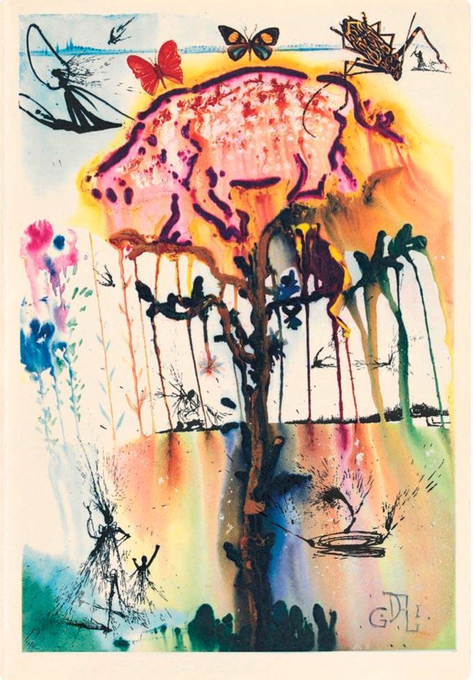 иллюстрации Сальвадора Дали к Алисе в Стране чудес illustrations by Salvador Dali for Alice in Wonderland Поросенок и перец pig and pepper