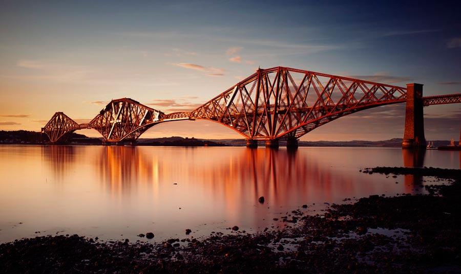 достопримечательности ЮНЕСКО sights UNESCO железнодорожный мост Форт-Бридж Шотландия Forth rail bridge Scotland