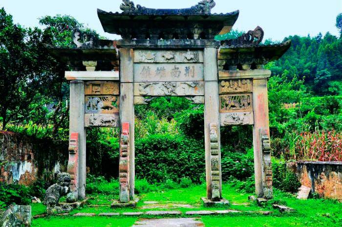 достопримечательности ЮНЕСКО sights UNESCO ворота Туси Китай gate Tusi China