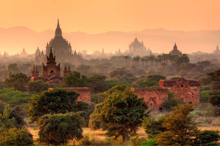 изумительные виды на земле amazing species on earth Паган Мьянма Bagan Myanmar