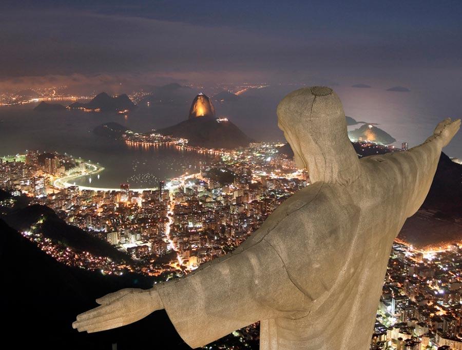 изумительные виды на земле amazing species on earth Гора Корковадо Рио-де-Жанейро Бразилия mount Corcovado Rio de Janeiro Brazil