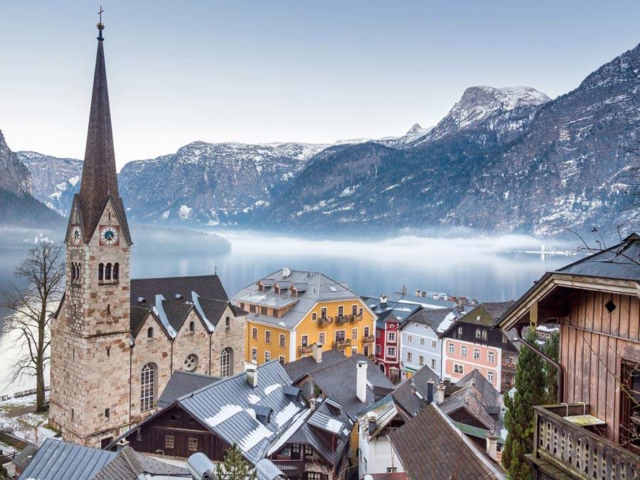 Австрия: природные и городские достопримечательности Халльштатт
