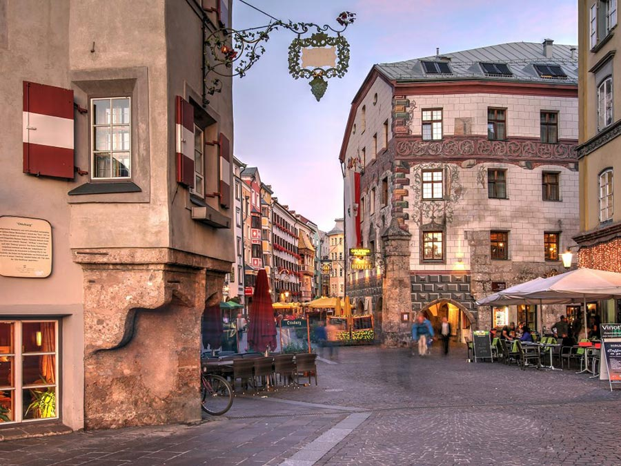 Австрия: природные и городские достопримечательности Инсбрук