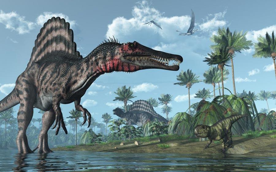 доисторические животные Спинозавр