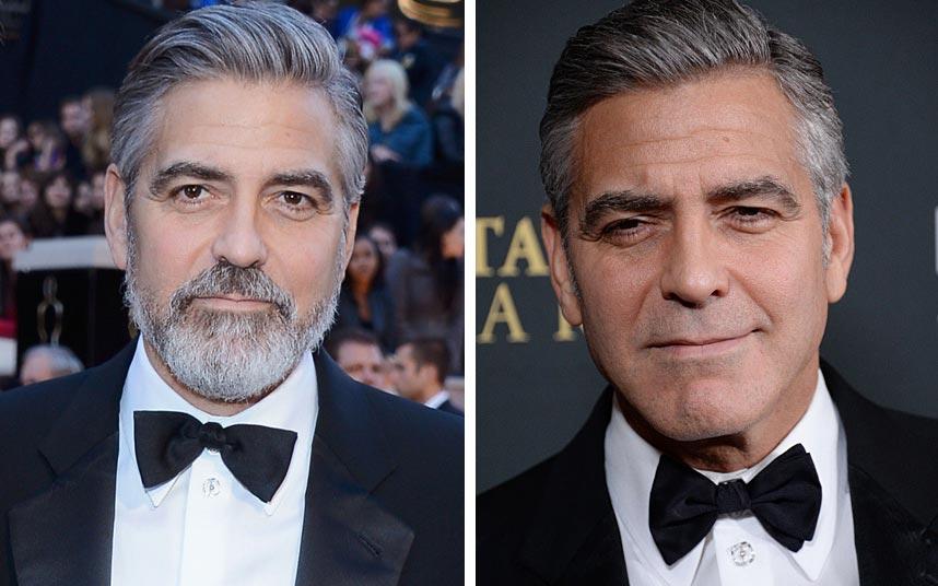 знаменитости с бородой Джордж Клуни
