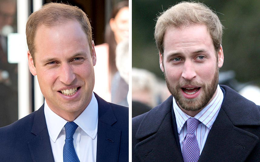 знаменитости с бородой принц Уильям