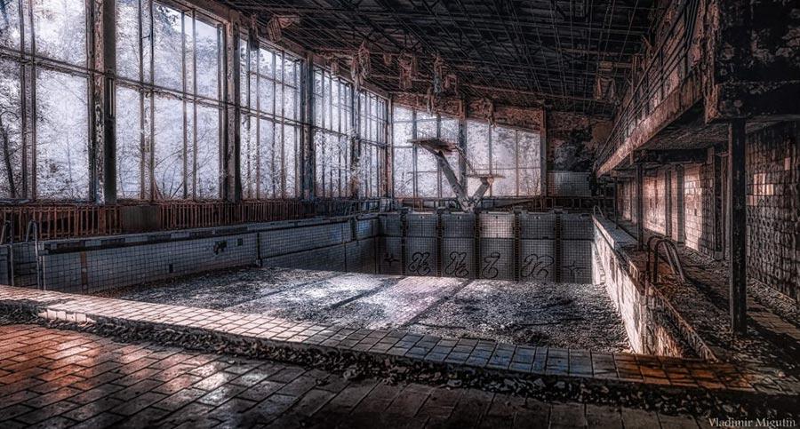 Чернобыльская зона отчуждения в объективе инфракрасной камеры