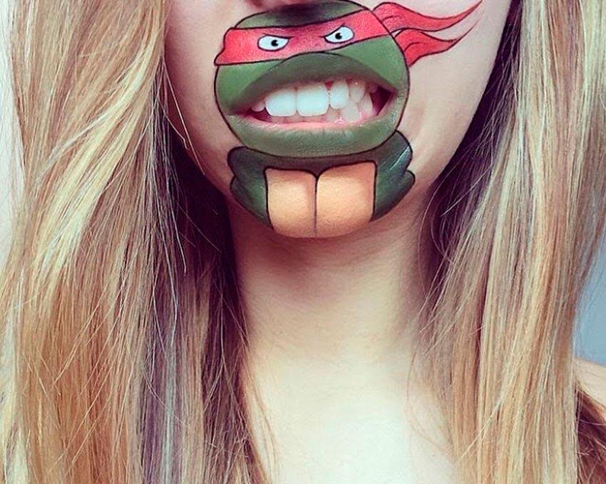 бодиарт губ Черепашки ниндзя