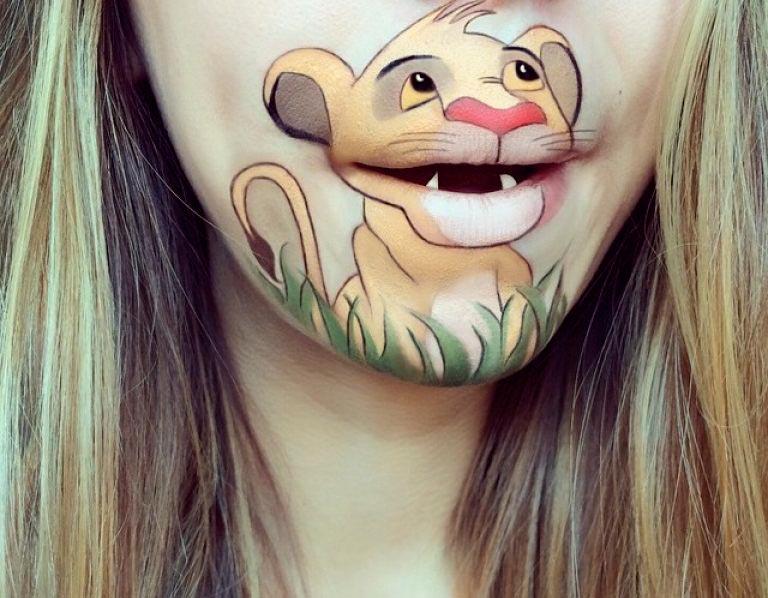 бодиарт губ Симба Король Лев