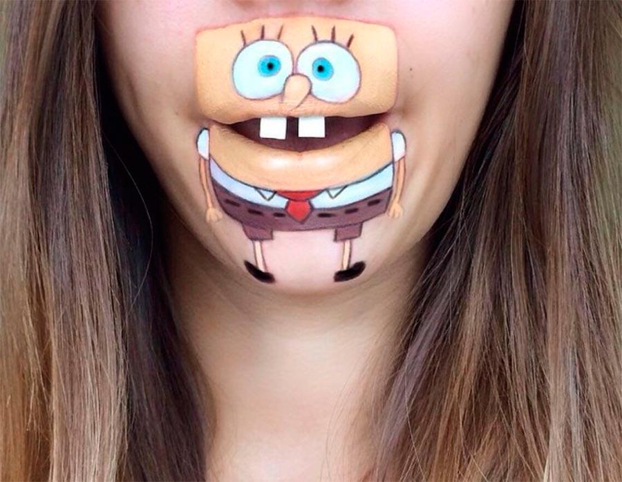 бодиарт губ Губка Боб