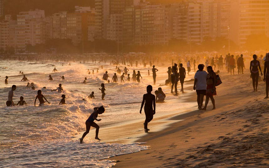 опасные пляжи в мире dangerous beaches in the world пляж Копакабана Бразилия Copacabana beach Brazil