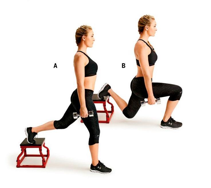 упражнения для ног и ягодиц Болгарские выпады