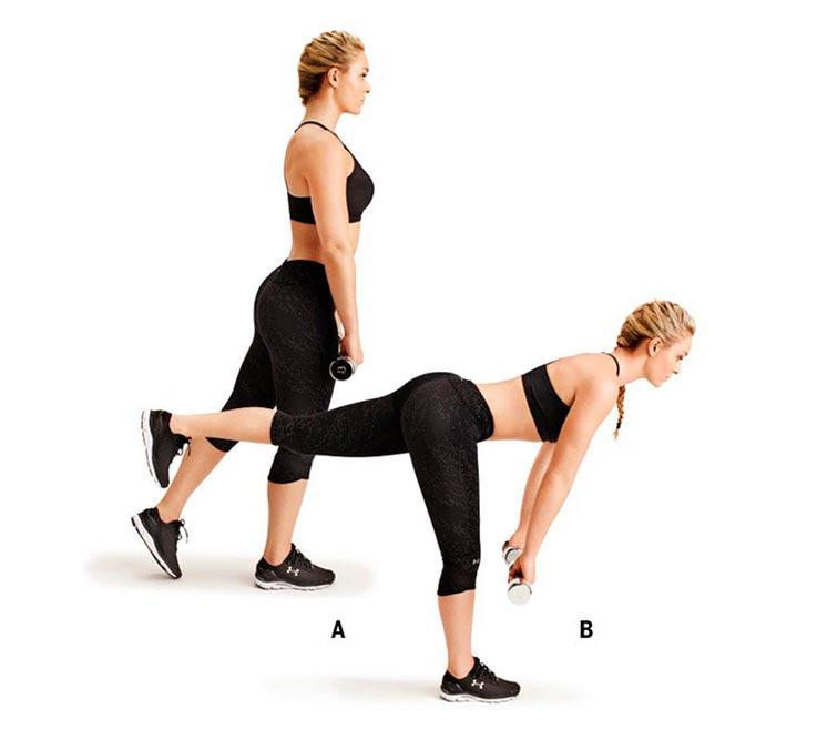 упражнения для ног и ягодиц Румынская тяга стоя на одной ноге