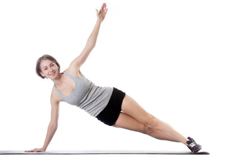 упражнения для талии Боковая планка
