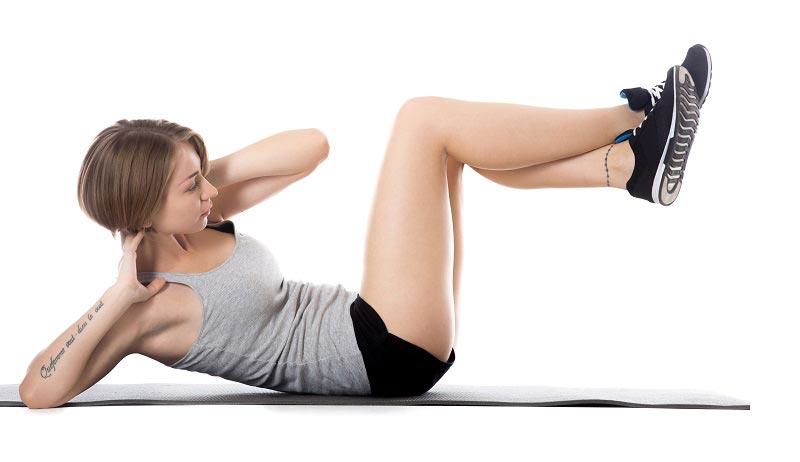 упражнения для талии Скручивания