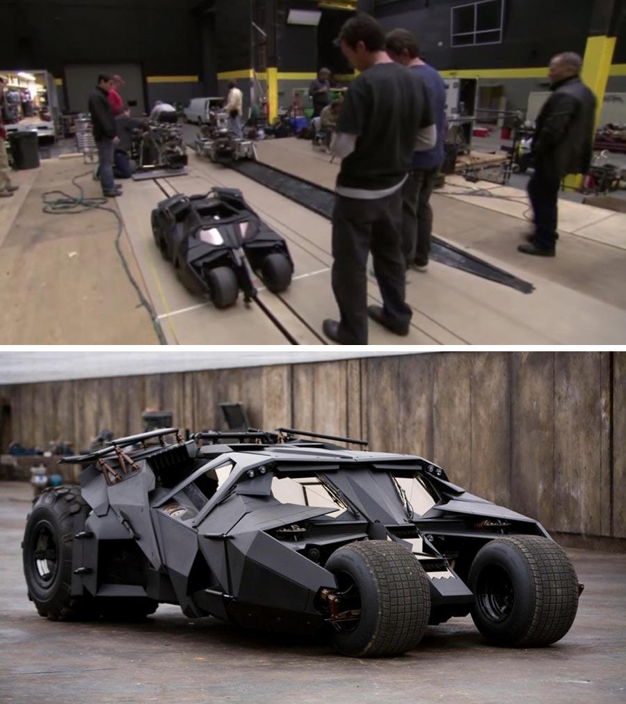фильм компьютерная графика Темный рыцарь бэтмобиль