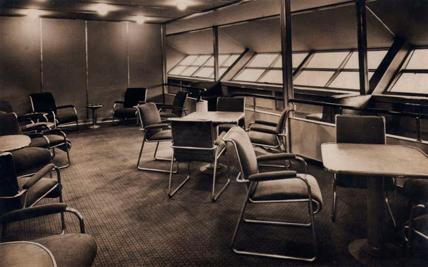 Гинденбург цеппелин Hindenburg zeppelin комната отдыха и прогулочная галерея rest room and walking gallery