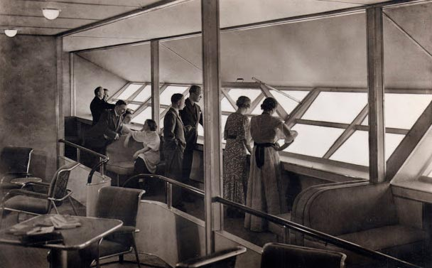 Гинденбург цеппелин Hindenburg zeppelin прогулочная галерея walking gallery