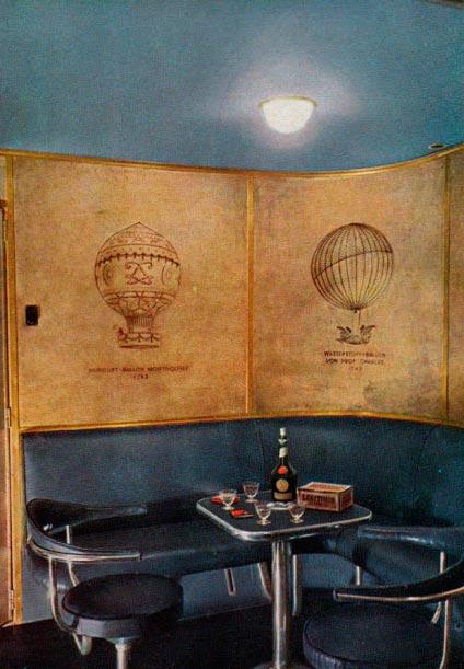 Гинденбург цеппелин Hindenburg zeppelin комната для курения smoking room