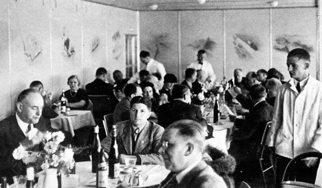 Гинденбург цеппелин Hindenburg zeppelin столовая dinig room