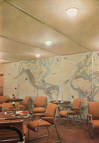Гинденбург цеппелин Hindenburg zeppelin комната отдыха rest room