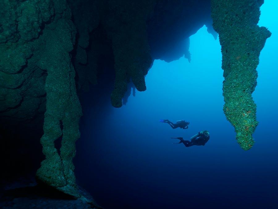 интересные подводные достопримечательности мира Большая голубая дыра Белиз