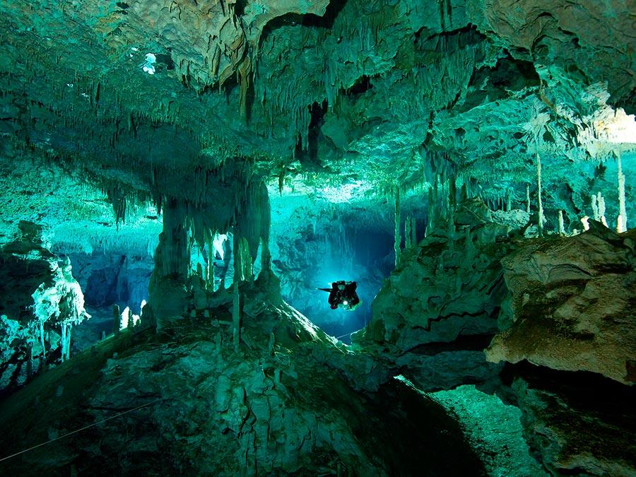 интересные подводные достопримечательности мира Сенот Дос Охос Мексика