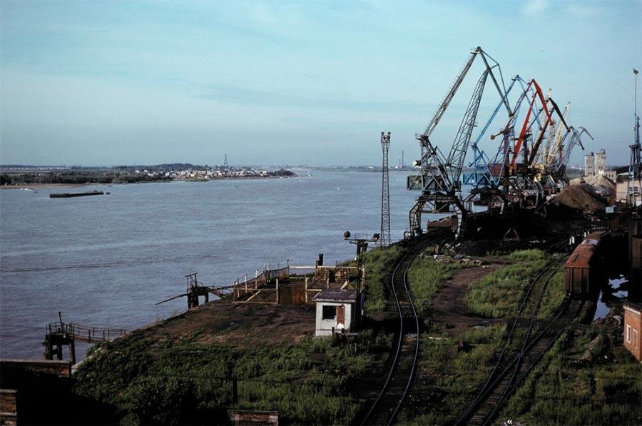 путешествие по Транссибу Омск порт Иртыш